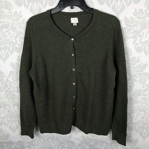 A New Day Green Knit Button Down Cardigan